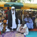 The Emir of Dutse delivering speech during flag off of this years distribution of zakkat.